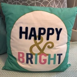 Happy and Bright Pillow Cover
